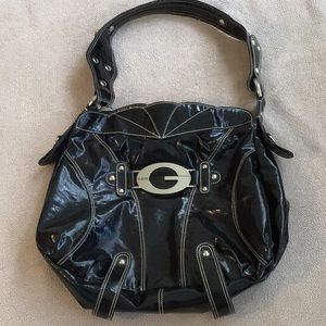 Large Guess Patent Leather Tote
